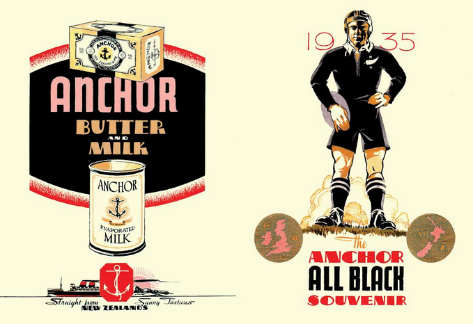 New Anchor Celebrates New Zealand's Finest Exports: Its Dairy Industry & The All Blacks