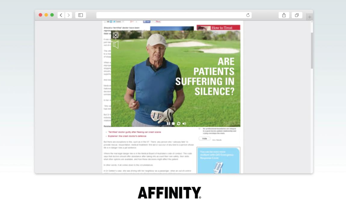 Affinity Bags Top Healthcare Advertising Award