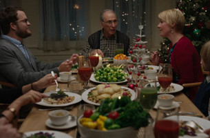 Grandpa Is Not Happy with His Gluten Free, Vegan Christmas Dinner in Hallmark Spot