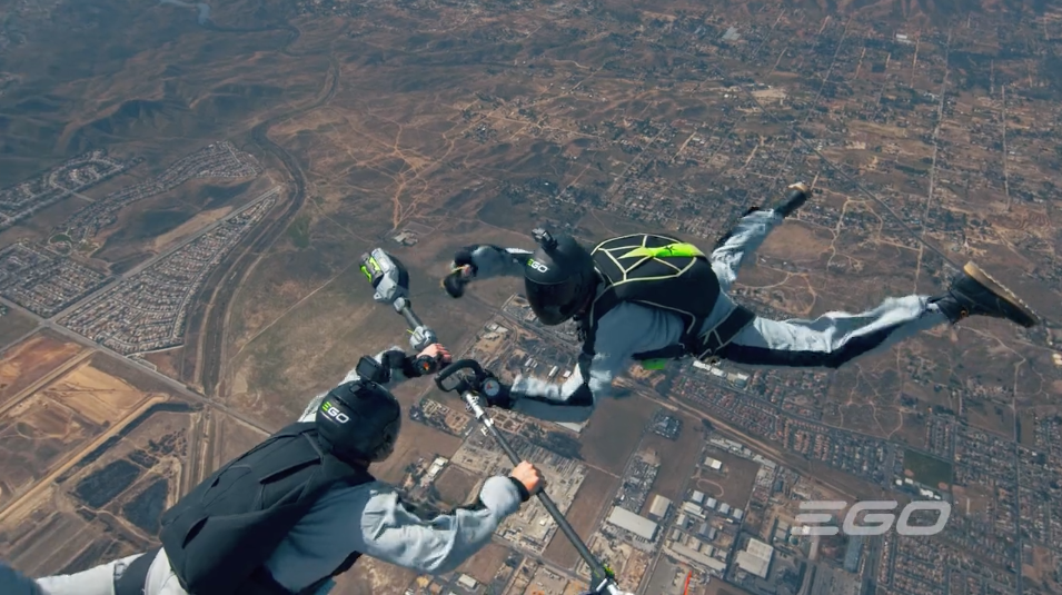 EGO Power+'s New Spot Takes a String Trimmer Skydiving at 29,000 Feet