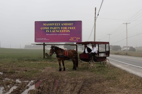 72andSunny, Sydney Takes Lancaster County Amish to Once-In-a-Lifetime Party for Mona Foma