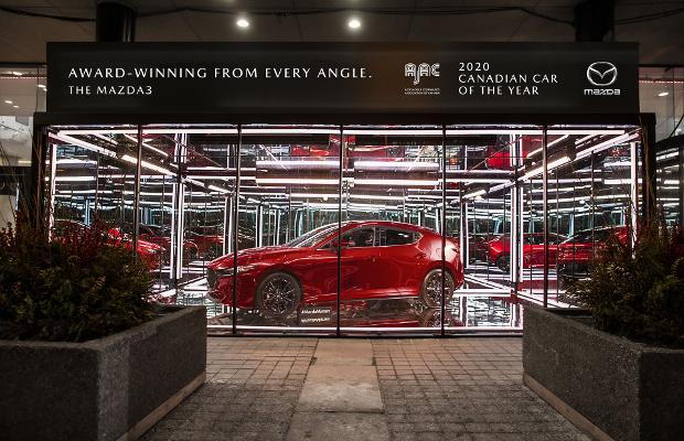 Mazda Celebrates Car of the Year Win with Dazzling Window Showcase