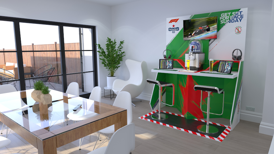 Heineken Sends Fans 'Pit Wall Bars' at Home to Enjoy F1 2021 Race Season
