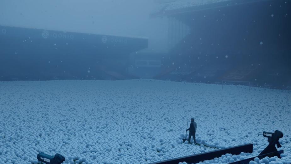 Snowballs Fall Over Sky's Festive Football Season Celebration