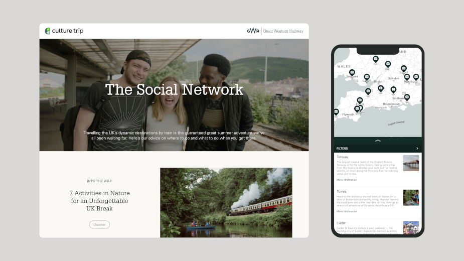 Culture Trip Creates Bespoke Social Campaign for Great Western Railway