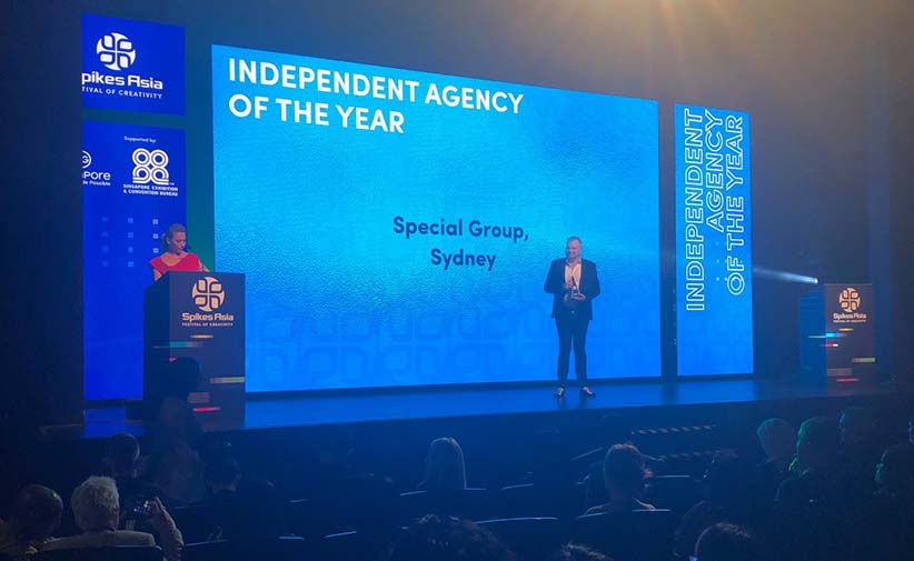 Special Group Sydney Takes Out Spikes Asia Independent Agency of the Year Title