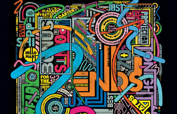 Overwhelming Typographic Collages Represent the Onslaught of Emails We All Face