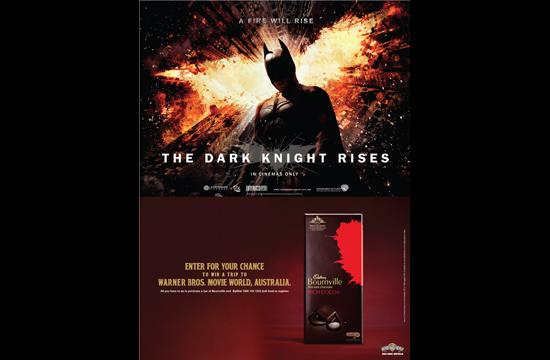 'The Dark Knight Rises' with Cadbury Bournville India