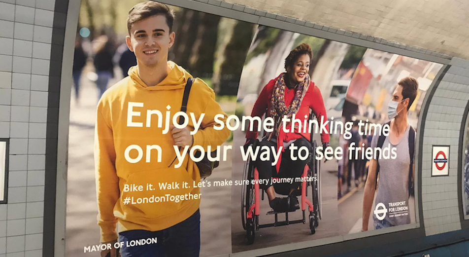 Londoners Stretch Their Legs in TFL's Now's the Time Campaign