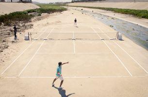 Great Guns' Klaus Thymann Shoots a Tennis Match Across the US/Mexican Border for Björn Borg