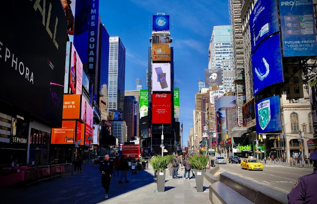 Coca-Cola Uses Times Square Billboard to Encourage Social Distancing