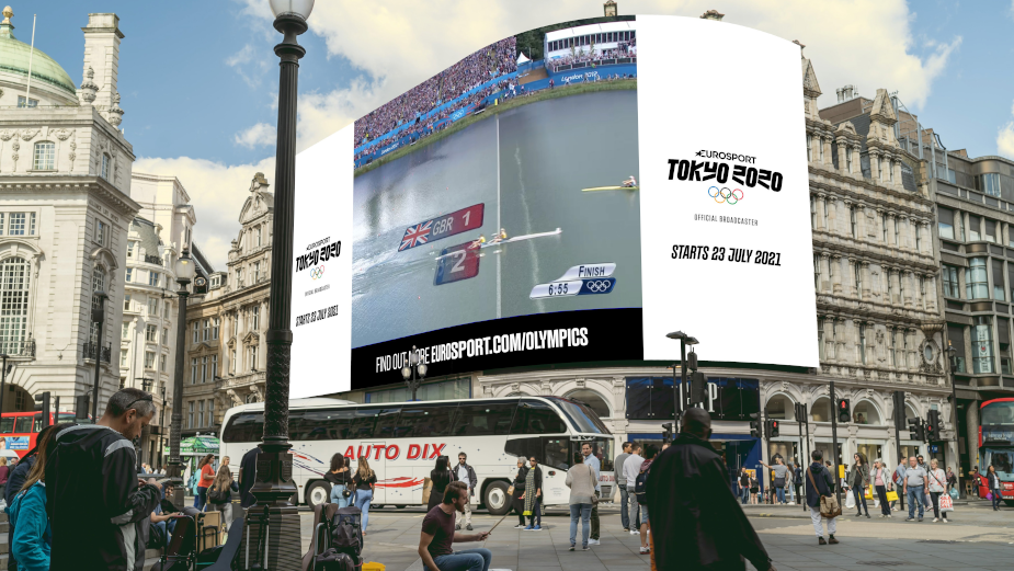 Eurosport Revisits Magic of London 2012 Olympics on Piccadilly Lights