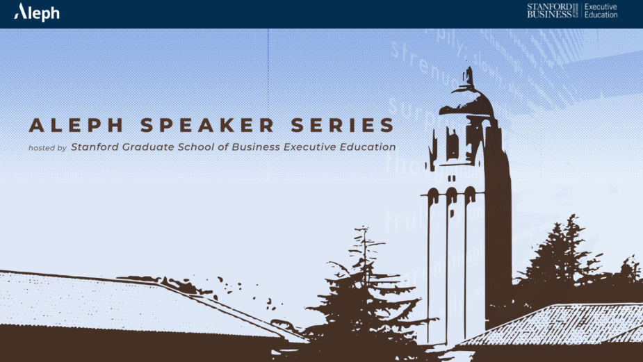 Httpool Extends Aleph Speaker Series Hosted by Stanford GSB to Selected Clients
