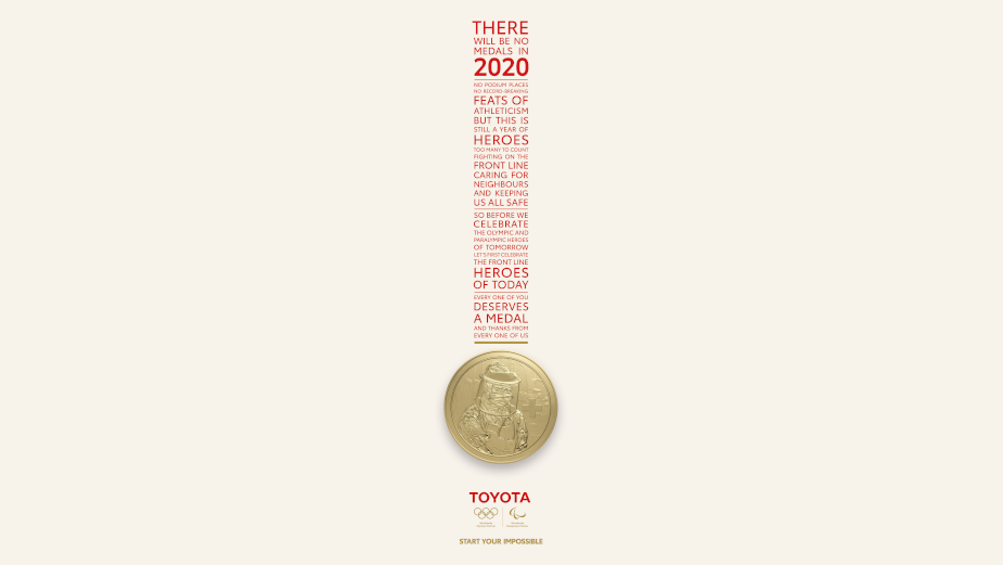 Toyota's 'Heroic Medal' Celebrates Frontline Fighters of Covid-19