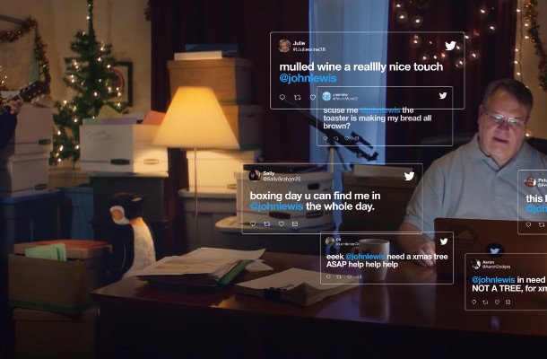 Actual John Lewis is the Hero of Twitter's Christmas Ad