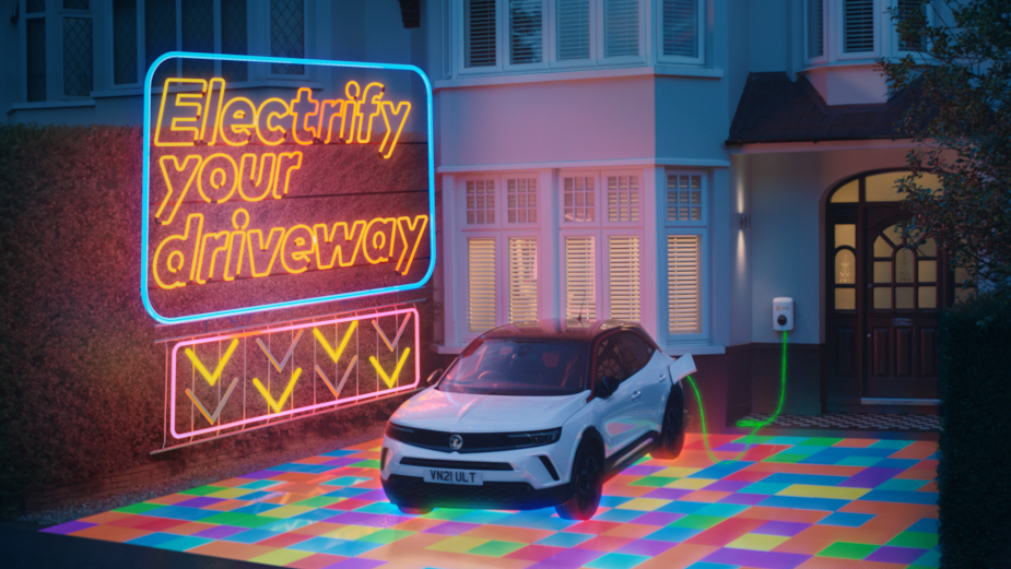 British Gas' Disco Driveway Spotlights Hive's Home Charging Solutions