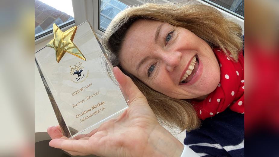 Salamandra's Christine MacKay Wins Best Business Women Award