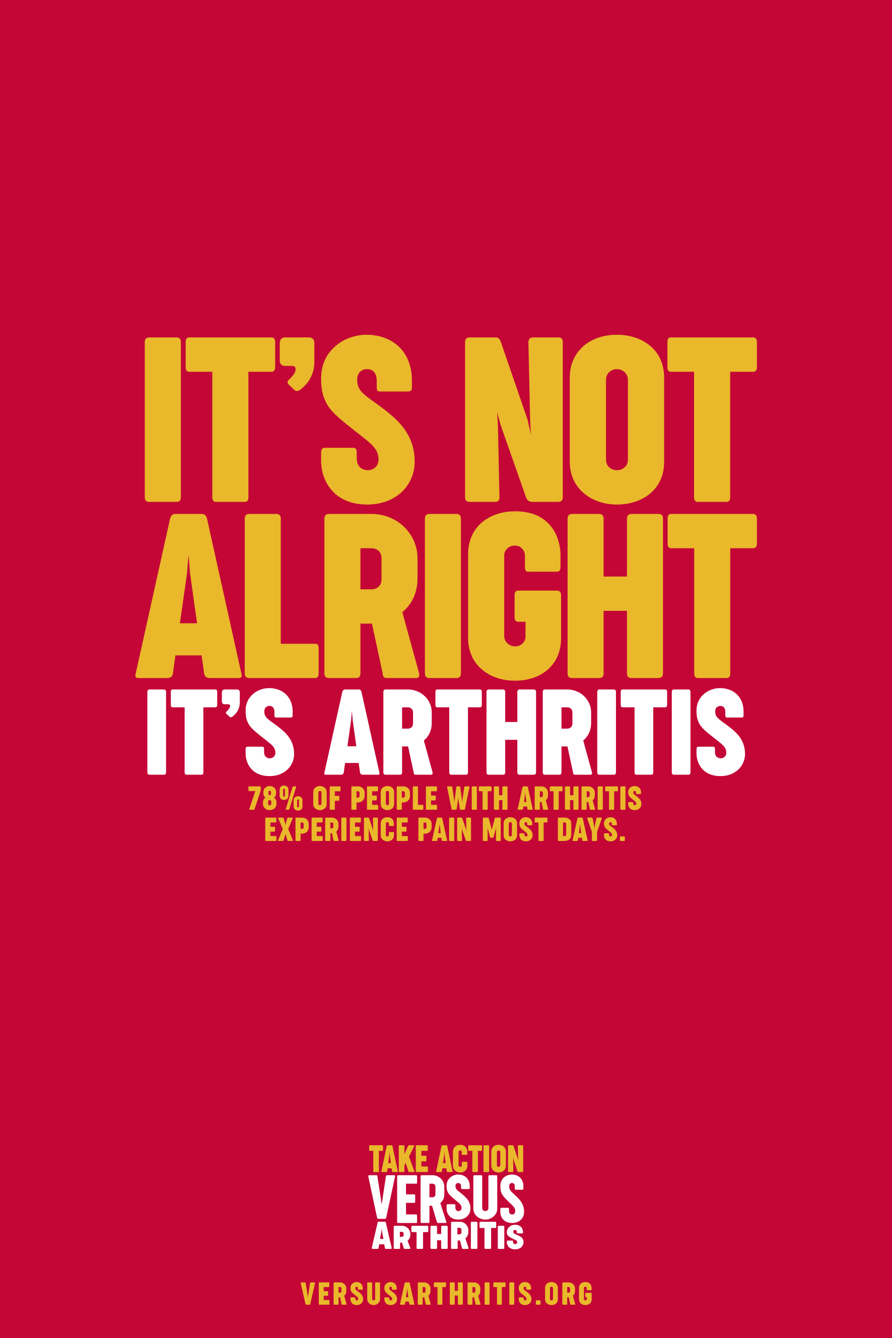 Versus Arthritis launches campaign urging people to take condition seriously ahead of World Arthritis Day