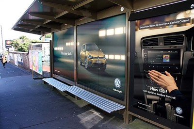Volkswagen Golf 'Makes The Future Real' With Gesture Controlled Outdoor Panels