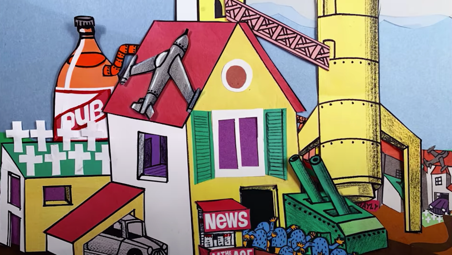 Michel and Olivier Gondry Craft a Kooky Hand Drawn Model Village for IDLES' Latest Single