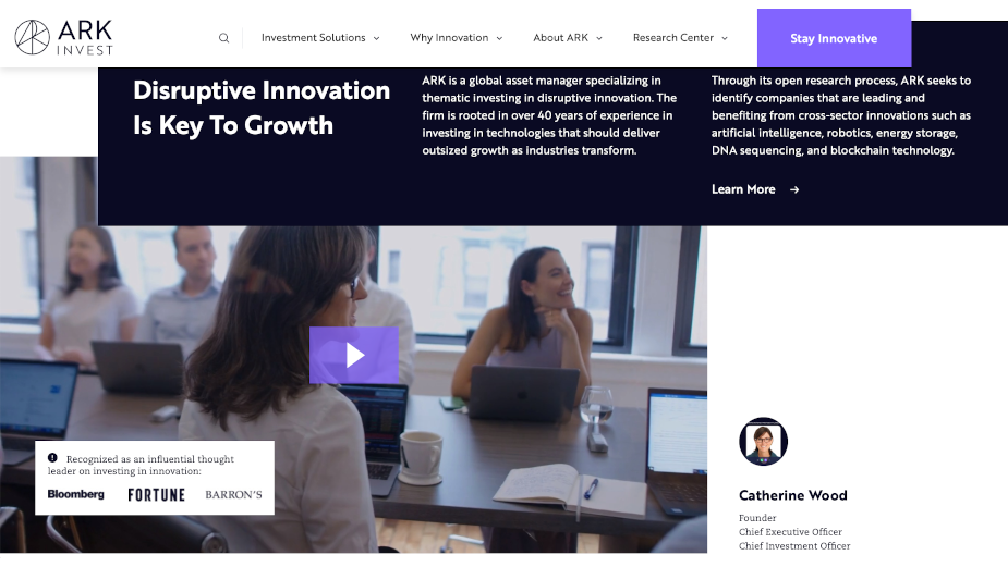 Serviceplan Group USA Launches New Website for Key Client ARK Invest