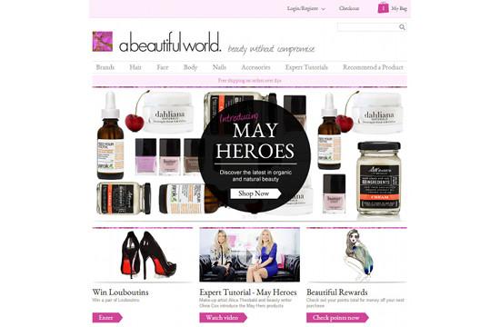 Publicis' E-Commerce Site for 'abeautifulworld'