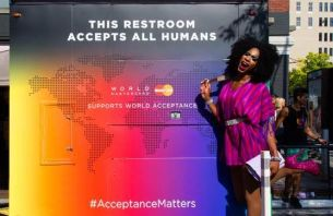 This Rainbow'd Restroom Accepts All Humans at Pride Fest NYC