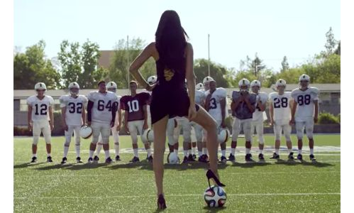 Adriana Lima Brings World Cup Fútbol to the US In Kia Spots