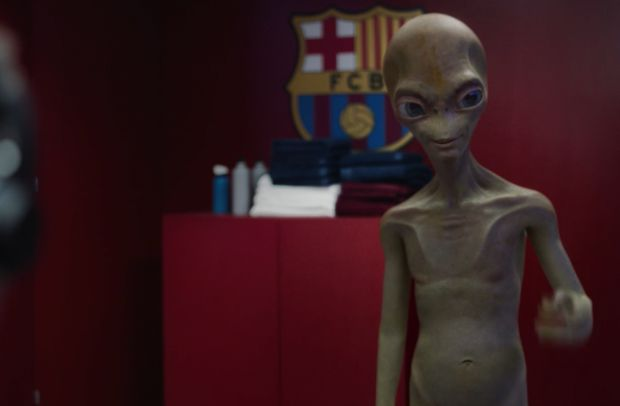 An Alien Invades Barcelona's Dressing Room in New Audi Film by DDB Spain