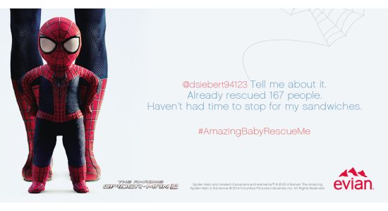 evian Turns To Baby Spider-Man To Solve Social Media Woes