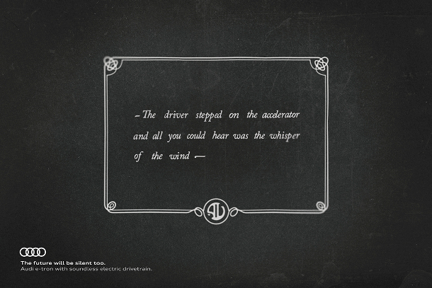 Audi Gives Nod to Silent Movies to Promote Electric Cars