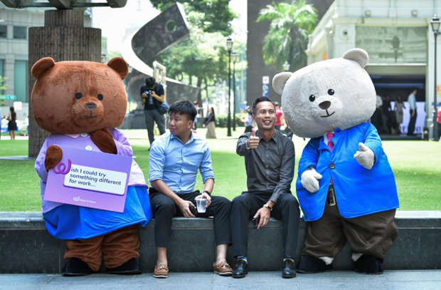 Workforce Singapore's Giant Teddy Bears Can Help You on Your Employment Journey
