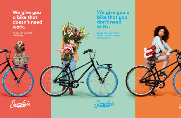 Bike Subscription Service Swapfiets Launches Colourful International Campaign