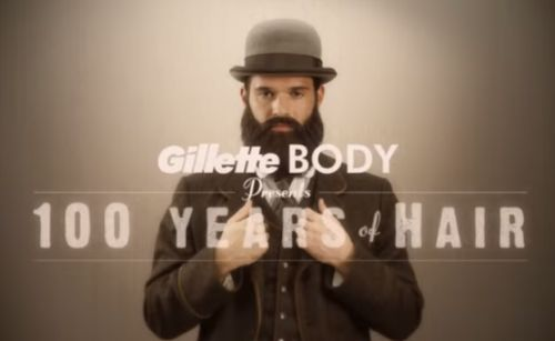 Gillette's Hair-raising Trip Through Time in '100 Years of Hair'