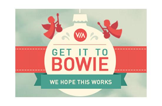 Help The VIA Agency #GetItToBowie