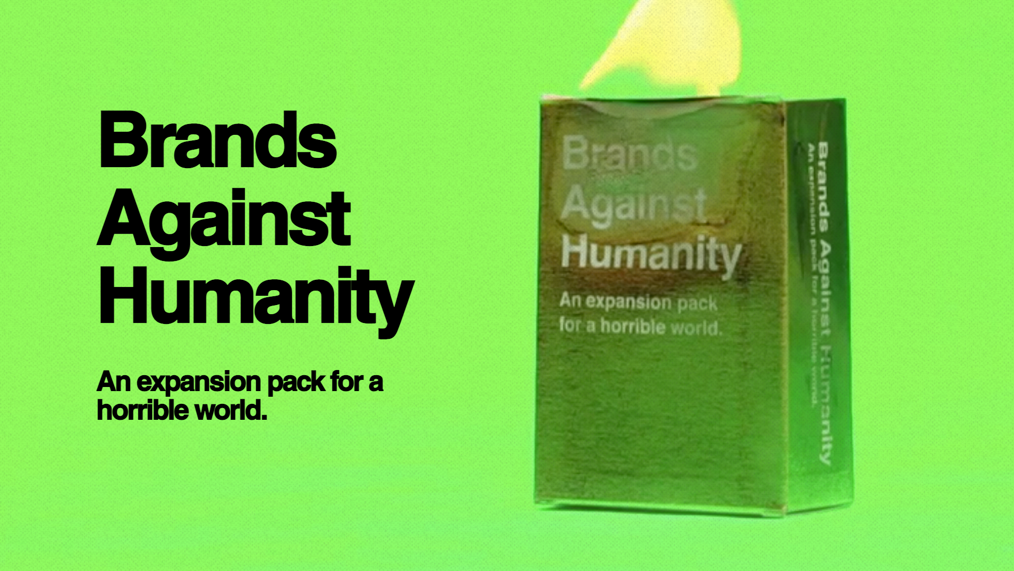 Brands Against Humanity: The Card Game Calling Out Brands' Dirty Deeds