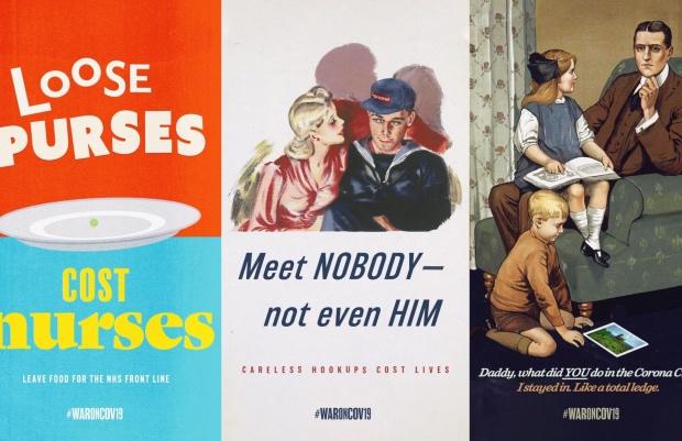 Retro Wartime Slogans Get a Coronavirus Update