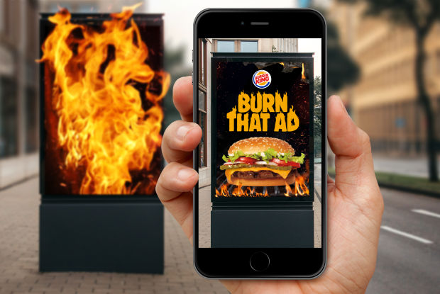 Burger King Brazil Encourages Virtual Arson in Flaming New AR Campaign