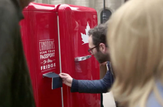 Molson Canadian's Travelling Beer Fridge