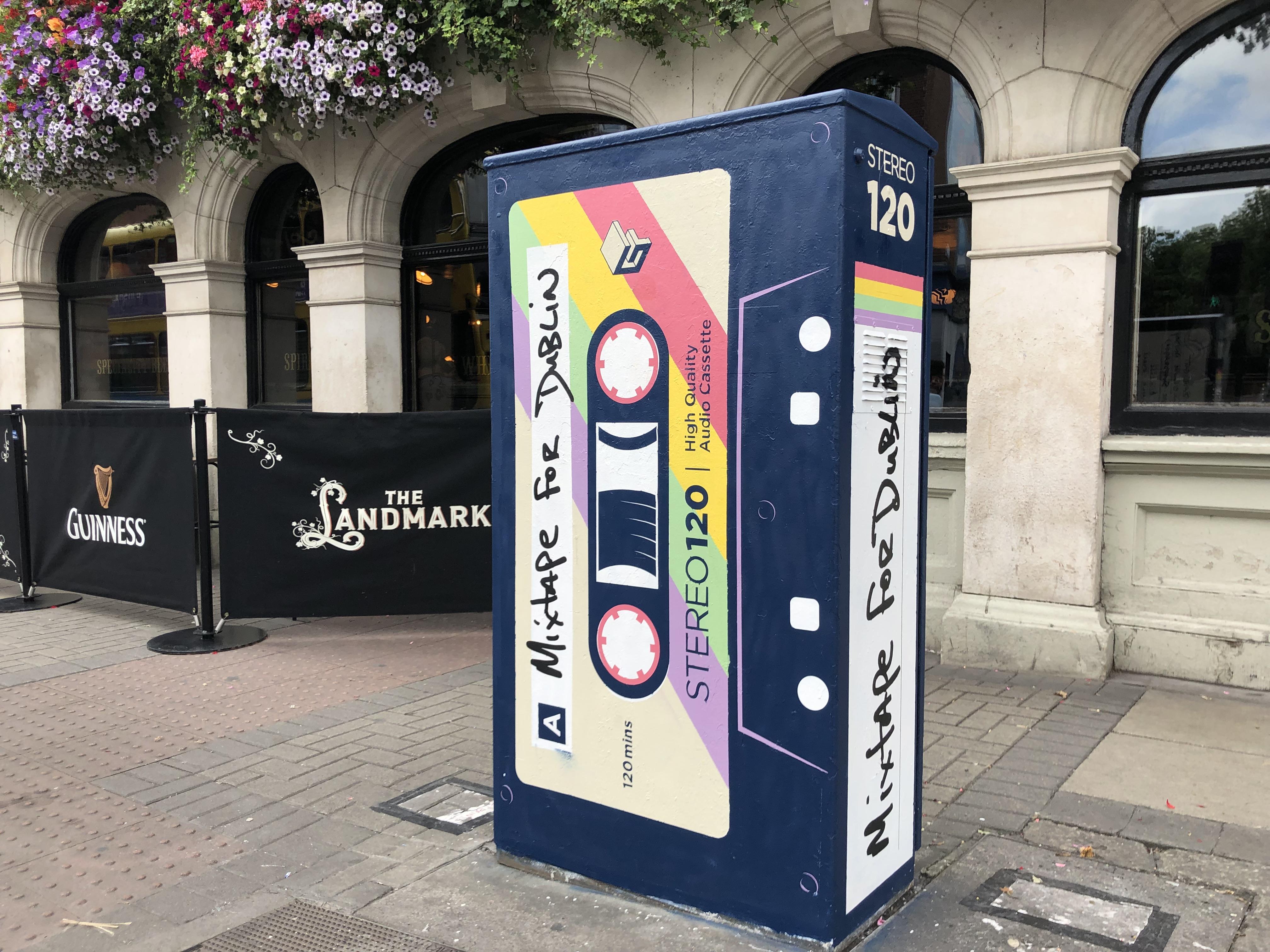 Dublin Artist Transforms a Traffic Box Into a Giant Retro Mixtape