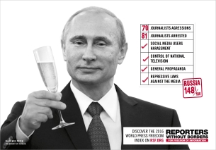 Reporters Without Borders Laments a Great Year for Censorship with New Campaign