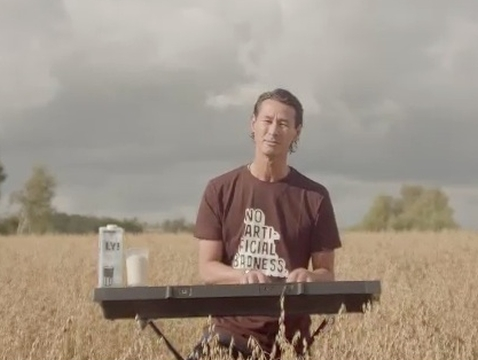 Why's This Milk Brand CEO in a Field with a Synth?