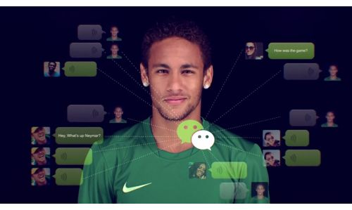 Neymar Gets Connected In Stardust Spot for WeChat