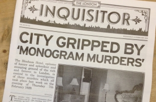 Read All About the New Poirot Mystery with 1920s-style Newspaper Stunt