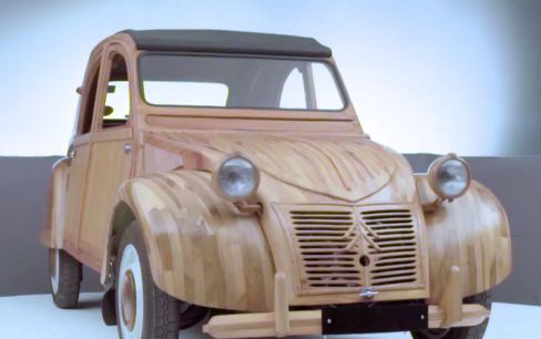 2CV Made Entirely of Wood Gets Immortalised in Citroën's Digital Museum