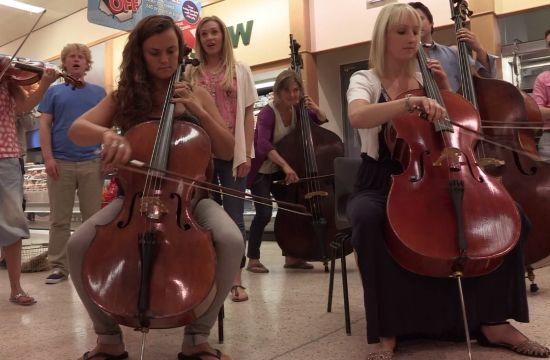 Classic FM's Supermarket Symphony Flash Mob