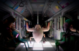 Blue Zoo's 'Commuter Glitch' Is a Wonderfully Weird Animated Short