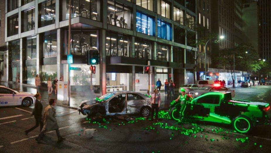 Video Game Character Causes a Crash in Budget Direct Spot from Danny Kleinman