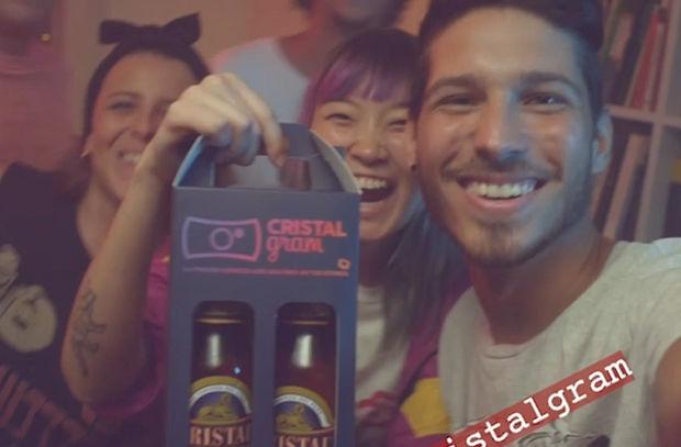 Cristal Beer Combats Selfie Woes with CRISTALGRAM Flipped Label Range