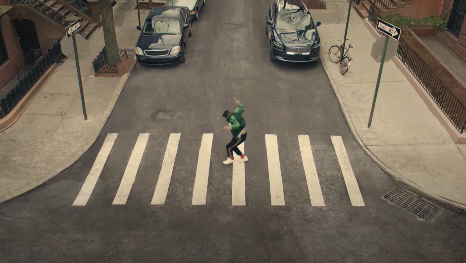 Jon Batiste Plays Piano on a Crosswalk in Jazzy Spot for Lincoln